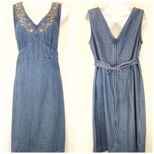 VTG denim dress with embroidery